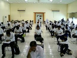 Suasana ujian, tenang tapi tegang